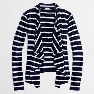 J. Crew • Navy Stripe Always Cardigan